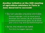 another initiative at the g20 meeting of agriculture ministers in paris in june deserved to succeed