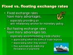 fixed vs floating exchange rates