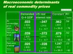 macroeconomic determinants of real commodity prices