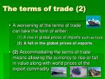 the terms of trade 2
