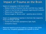 impact of trauma on the brain