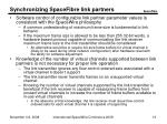 synchronizing spacefibre link partners16