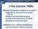 a few economic tidbits