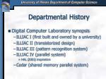 departmental history