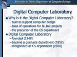 digital computer laboratory