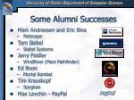 some alumni successes