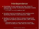 interdependence