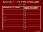 strategy 4 systematic instruction continued