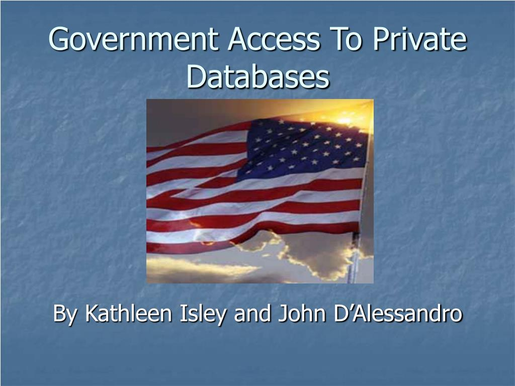government access to private databases l.