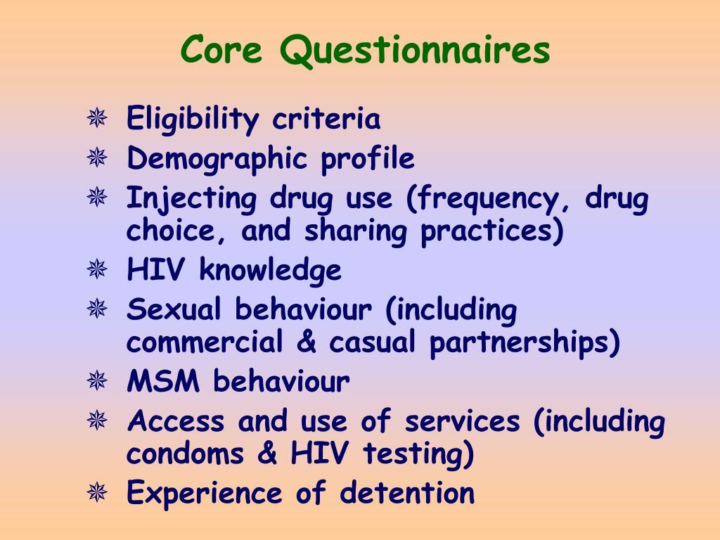 Core Questionnaires