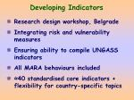 developing indicators