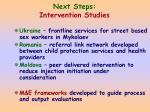 next steps intervention studies
