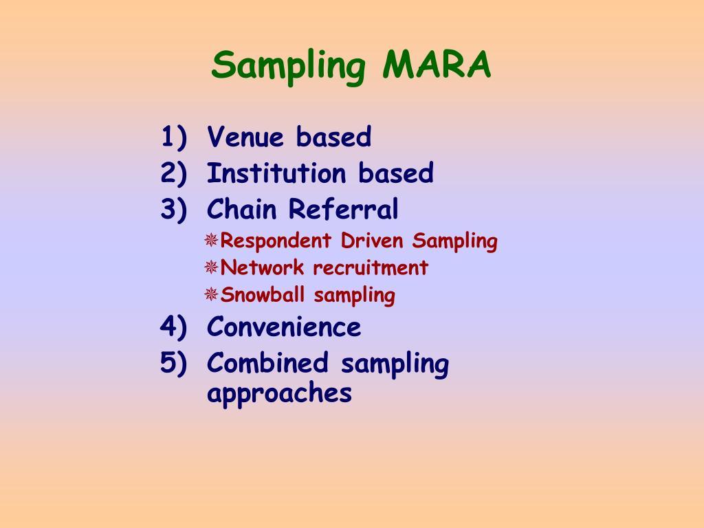 Sampling MARA