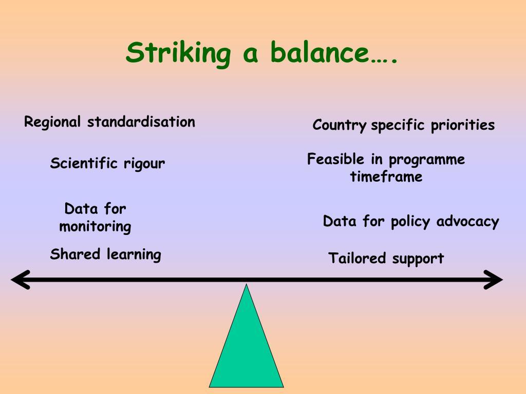 Striking a balance….