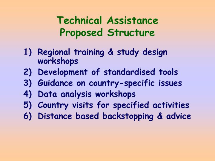 Technical assistance proposed structure
