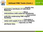 utilized fme tools cont