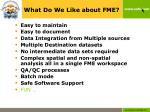 what do we like about fme