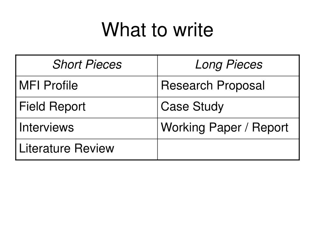 what to write l.