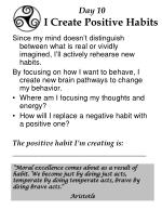 day 10 i create positive habits