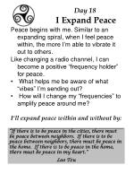 day 18 i expand peace