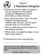 day 21 i maintain integrity