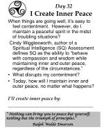 day 32 i create inner peace