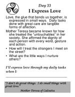 day 33 i express love