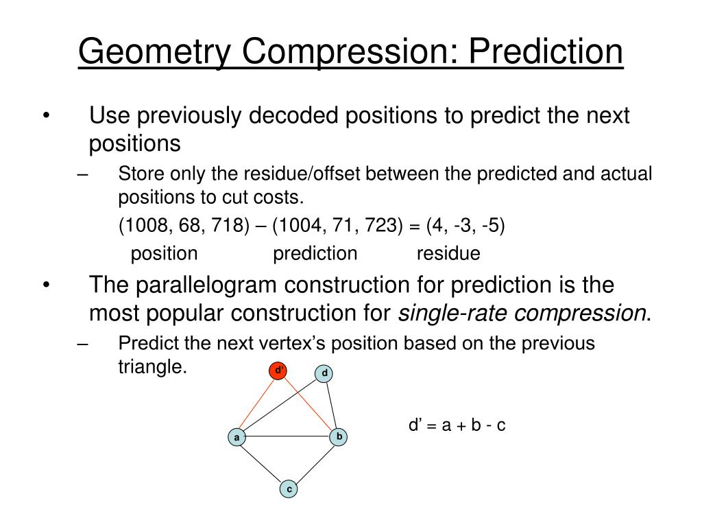Geometry Compression: Prediction
