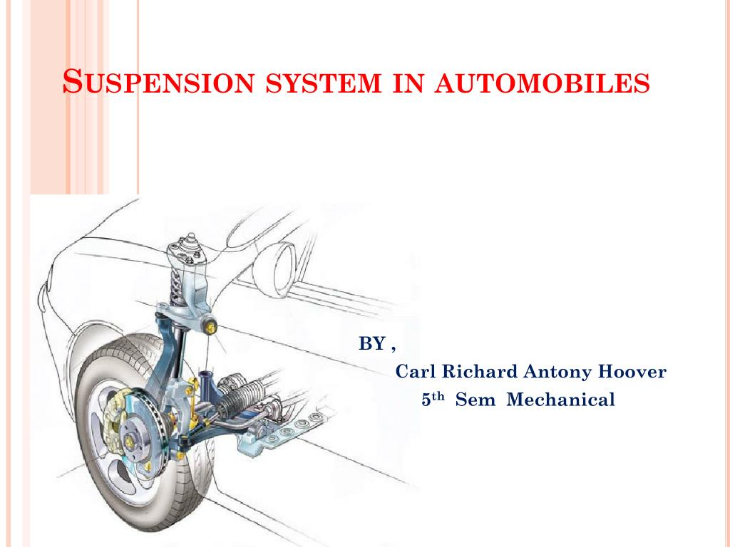suspension system in automobiles l.