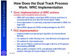 how does the dual track process work wrc implementation