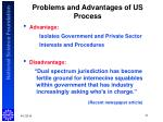 problems and advantages of us process