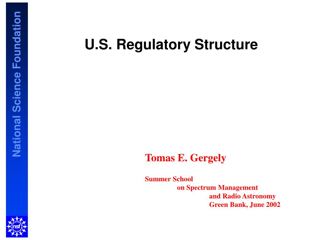 u s regulatory structure l.