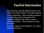 pass fail determination