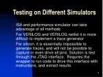 testing on different simulators