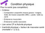 condition physique47