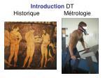 introduction dt historique m trologie