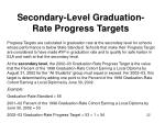 secondary level graduation rate progress targets
