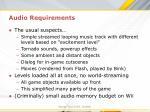 audio requirements