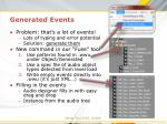 generated events