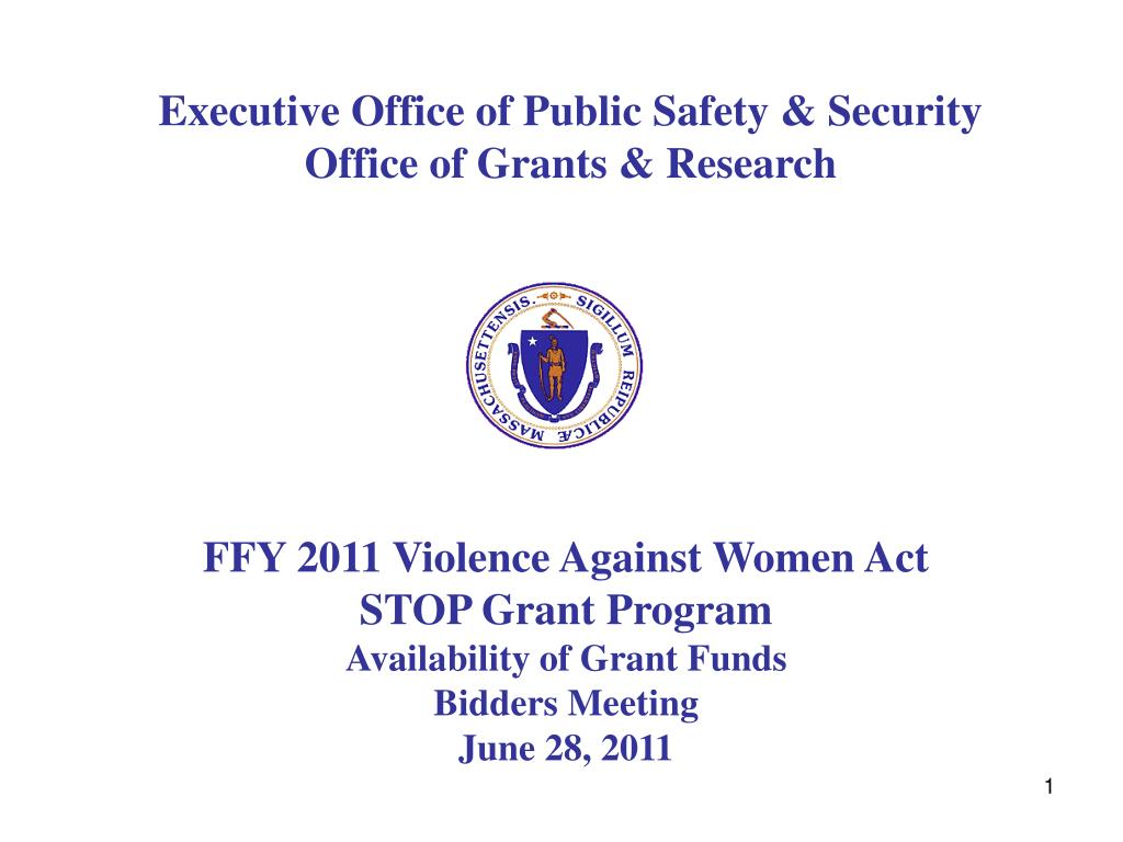 executive office of public safety security office of grants research l.