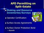 apd permitting on split estate