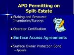 apd permitting on split estate8