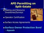 apd permitting on split estate9
