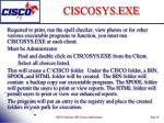 ciscosys exe