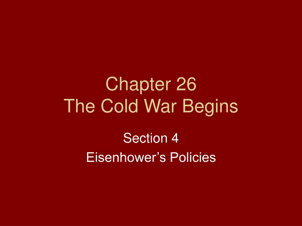 chapter 26 the cold war begins l.