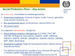 social protection floor key actors