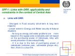 spf i links with drr applicability and constraints in the context of central asia