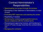 contract administrator s responsibilities