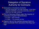 delegation of signature authority for contracts