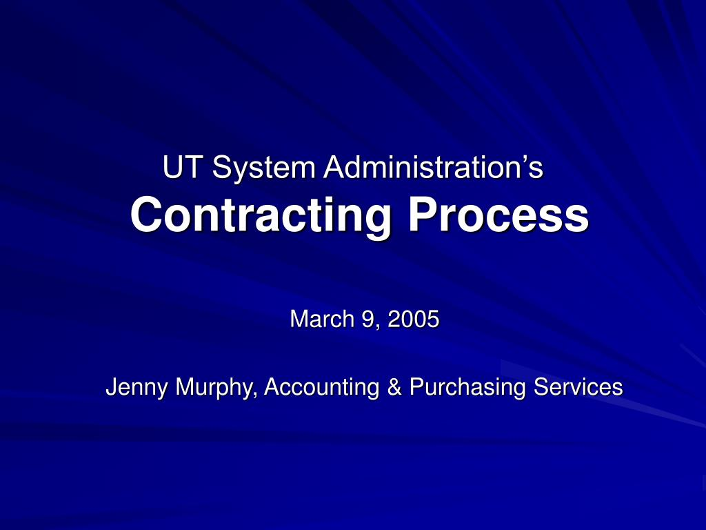 ut system administration s contracting process l.